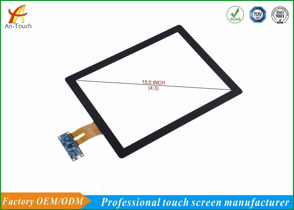 15 Inch Waterproof Touchscreen Display Smooth Touch , Hard And Anti Wear Surface