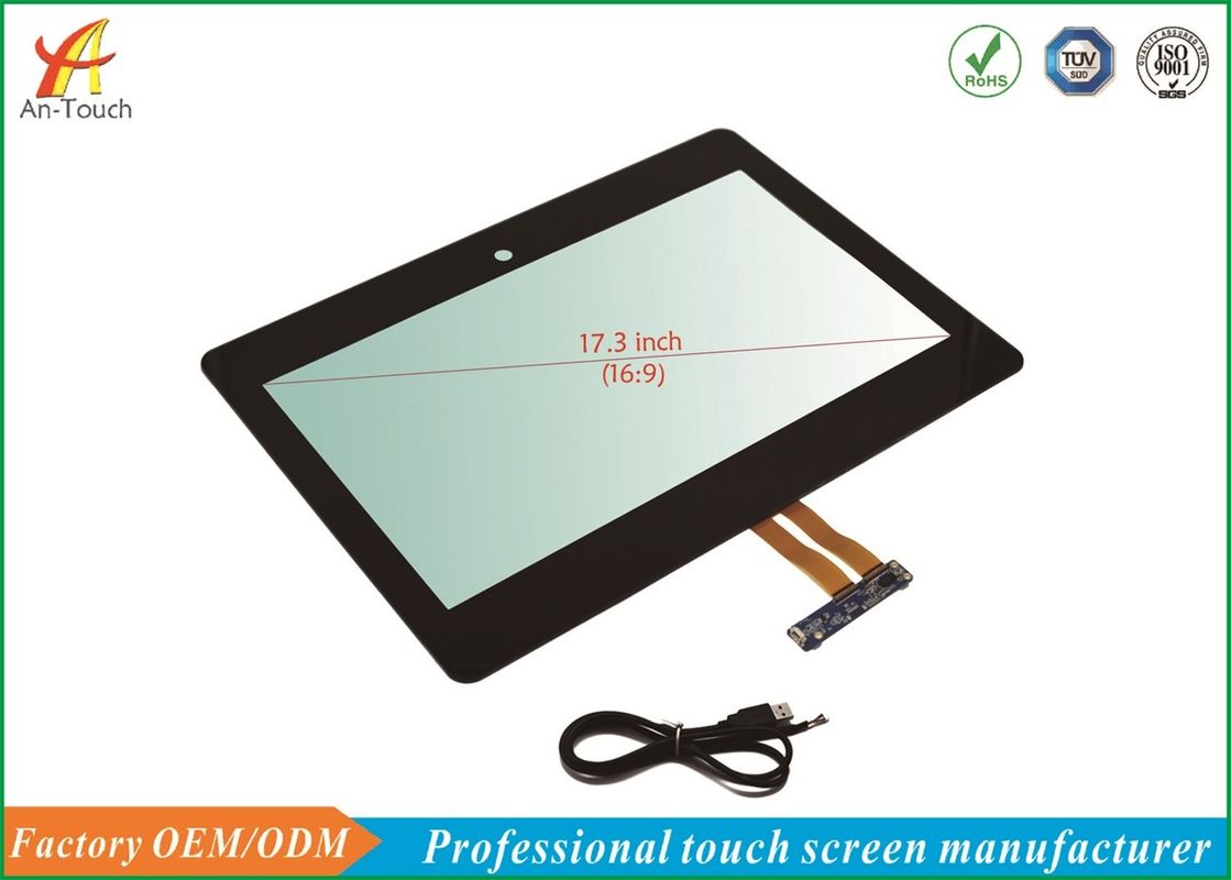 3mm Front Glass Industrial Touch Panel 17.3 Inch For Industrial Computer Accessories