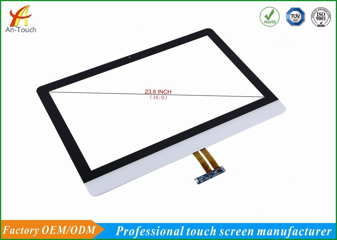 Transparent Waterproof Touch Panel 23.6 Inch 10 Touch Points For Android